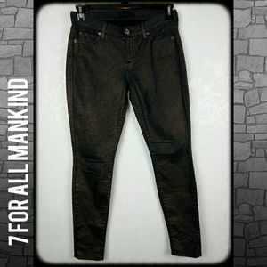 7 for all mankind The skinny metallic jean